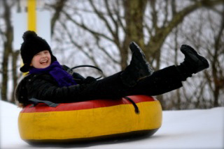 Snow Tubin' is Great for Groups